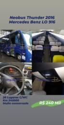 Microônibus Neobus Thunder + 2016 Mercedes Benz Lo 916