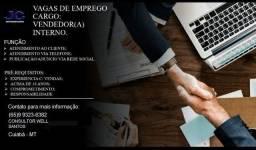 Emprego para vendedor interno