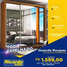 Guara Roupa Espanha Premium3 Portas Espelhada Largura 2,16