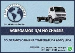 Agrega se Veiculos Caminhão 3/4 no Chassis ou Refrigerado
