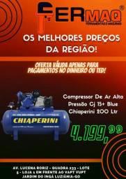 Compressor De Ar Alta Pressão Cj 15+ Blue Chiaperini 200 Ltr