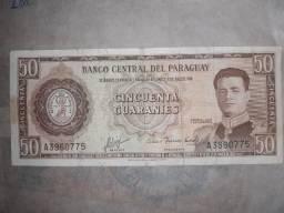 Cédula 50 guaranies Paraguay 1952