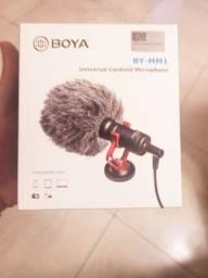 Microfone Boya cardioid profissional  para câmera e celular