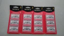 Fita Microcassette SONY 60min.(cartela c/3und.)