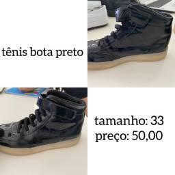 Tênis bota preto