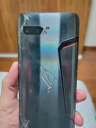 ROG Phone II usado - traseira trincada