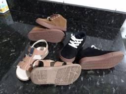 Tênis e sandália infantil