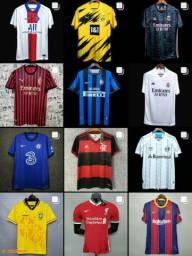 Camisas Times brasileiros e EUROPEUS. Flamengo, palmeiras, são paulo, vasco, barcelona