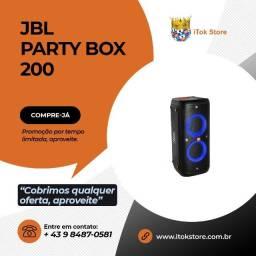 Promoção - JBL Party Box 200 Novos lacrados com 1 ano de garantia + brindes
