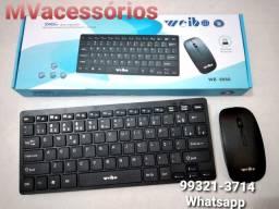 Teclado e mouse sem fio USB R$100, entrega SEM TAXA