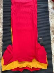Vestidos atacados cores da moda
