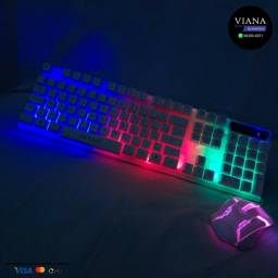 Teclado com mouse Led Game Rgb