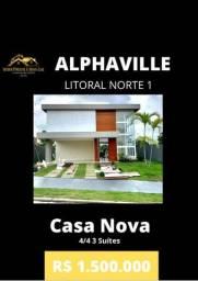Casa Nova 4/4 3 Suítes Alphaville Litoral Norte 1