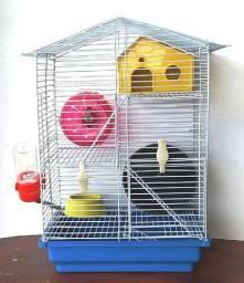 Gaiola Para Hamster 4 Níveis Seminova Completa