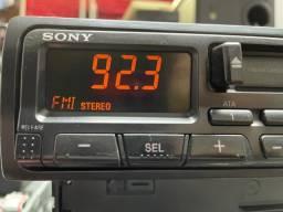 Toca fita Sony das antigas impecável raridade garantia instalado