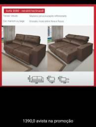 Sofá retrátil reclinável com entrega grátis