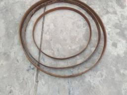 Antigo aro de roda de carro de boi antiguidade ferro