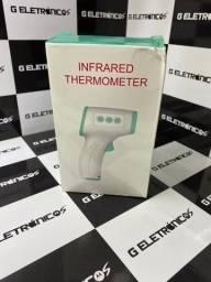 Promoção Termômetro Infravermelho Sem Contato Alarme De Febre Divido no cartão