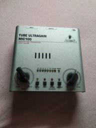 Tube Ultragain Mic100 Behringer modelo válvulado