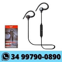 Fone de Ouvido Bluetooth Esportivo Magnético