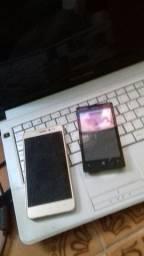 Notbook positivo, celular Lenovo e Nokia sem funcionar.