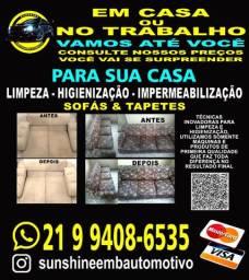 Limpeza, higienização e impermeabilização de sofás e tapetes