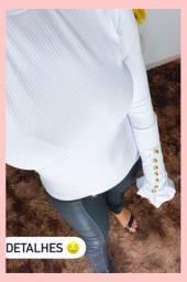 Blusa manga longa de botões
