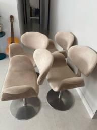 Cadeiras/Poltronas revestidas em veludo