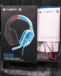 Headset Logitech G230 Preto e Vermelho (2 Anos de Garantia) (Caixa,NF e Garantia)