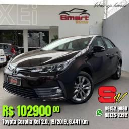 Smart Veículos - Toyota Corolla Xei 2.0, 19/2019, 8.441 Km. R$ 102.900,00