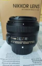 Lente Nikon 50mm F/1.8g Af-S Nikkor Auto Foco + Parasol- c/ Caixa