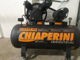 Compressor de Ar Industrial Chiaperini e Máquina Reta Industrial Yamata