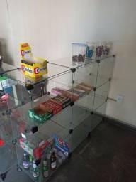 Expositor bomboniere de vidro