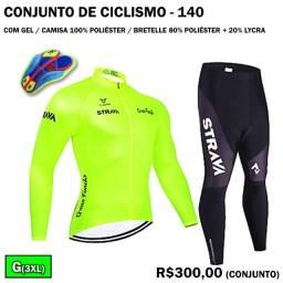 Conjunto de Ciclismo Camisa de Manga Longa + Calça