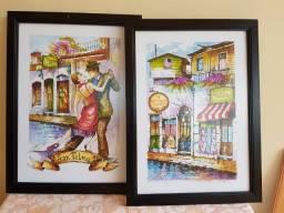 Lindos quadros emoldurados, prontos para enfeitar sua casa