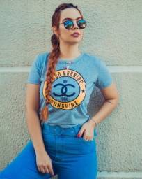 KIT 10 T-Shirts Feminina Estampadas