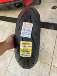 Pneu novo moto traseiro Pirelli CORSA II - 180/60/17