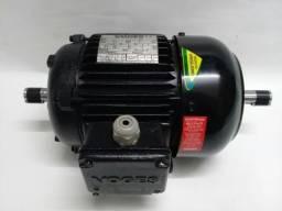 Motor Trifásico 0,38/0,46cv Voges 1160/1755 Rpm Eixo Duplo