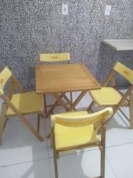 Conjunto de Mesas e Cadeiras Dobráveis Tramontina