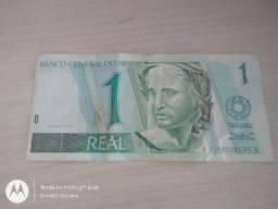 Cédulas de R$1,00 e de US$ 1,00