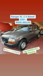 RANGER 2001/2001 2.5 XL 4X2 CD 8V TURBO INTERCOOLER DIESEL 4P MANUAL