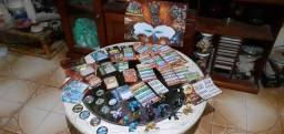 Gormiti Tazos 9 Bonecos Miniaturas 15 E 101 Cards