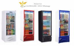Geladeira expositora vertical 410 litros, refrigerador, conservador