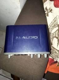 Vendo Placa de áudio M áudio fast track pro