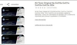 Vendo kit Toner original HP Ce410a  Ce411a Ce412a  Ce413a  315a