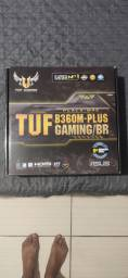 Placa Mãe ASUS Gaming TUF 360M -PLUS + Teclado Wireless Bluetooth Branco de BRINDE!