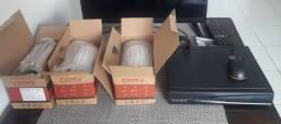 3 Câmeras de segurança AHD c/infravermelho. 5MP, Foco 6mm + DVR