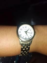 Relógio lince banhado a ouro