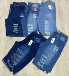 Bermudas Jeans Rasgadas/Lisa