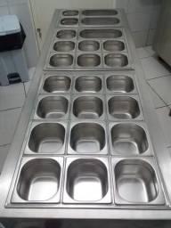 Balcão Self Service Guloseimas para Sorveteria e Loja de Açaí (quente e frio)